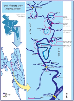 map-halda river