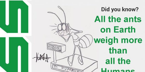 All the ants on Earth weigh more than all the humans